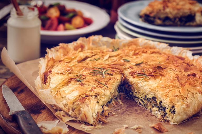 How to Make Spanakopita: Greek Spinach & Feta Cheese pie